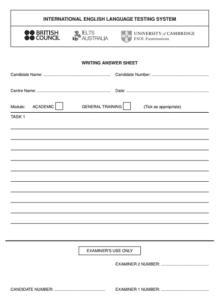 ielts listening answer sheet pdf