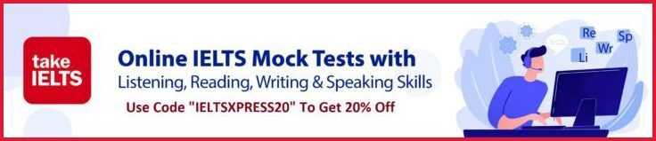 Get 20% off on ielts mock test use code ieltsxpress20