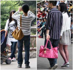 Chinese Man Carry Handbags tradition ielts cue card